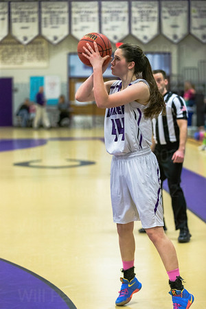 Mary Cloigherty is focused on her 3 point attempt