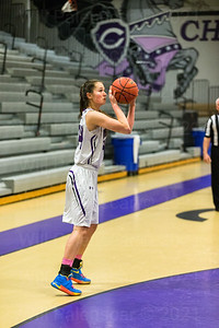 Mary Cougherty # 44 led all scorers with 17 points