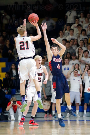 David Promisel #4 cant get to the shot of Johnny Corish #21