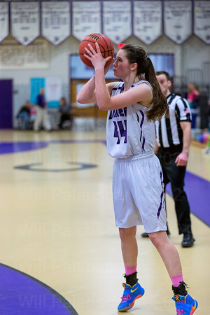 Mary Clougherty fires a three pointer. Clougherty led all scorers with 17 points and converted on 3 from long range