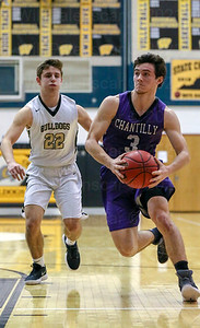 Christian Parana #3 scored 3 points for Chantilly in game with Wesstfield