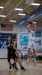 Andrew Powers #42 elevates for a jump shot