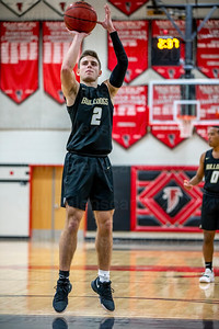 Taylor Morin #2 was succesful on all  four of his 4th quarter free throws in Westfield's 1st Round Concorde District Tournament