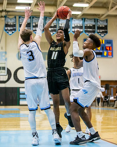 Tahj Summey #11 elevates inside the paint for Westfield