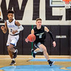 Taylor Morin  #2 uses his speed to sprint down the court