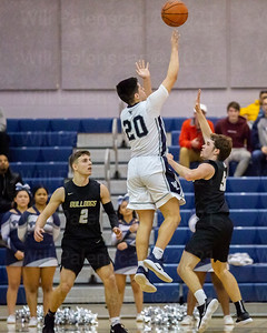 Anthony Reyes #20 led Washington- Lee with 20 points in loss to  Westfield