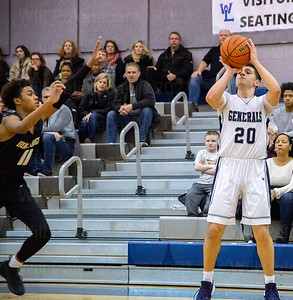 Anthony Reyes #20 elevates for  a shot in the first half of game between westfield and Washington-Lee