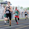 Don Knight | The Herald Bulletin<br /> Lapel's Dalton Busch wins the 400 meter dash during the Boys Track Sectional at Mt. Vernon on Thursday.