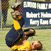 Photo by Chris Martin<br /> Shenandoah's Taylor Vaccaro makes an acrobatic catch in centerfield Tuesday in a regional loss against Elwood.