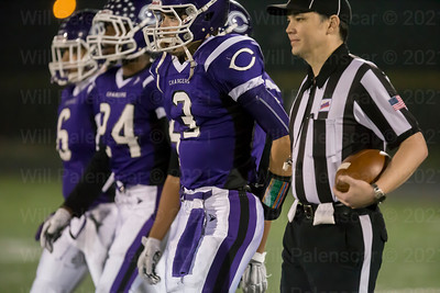 David Tammaro #3 and Chantilly teammates before coin toss