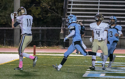 Westfield WR Hank Johnson #11 with one of his two TDs Friday against Centreville