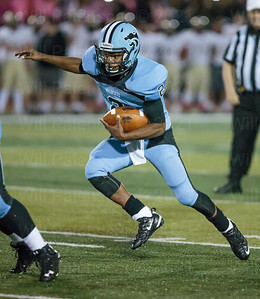 Centreville QB Jameel Siler with a QB keepr also threw for a TD in Centrevilels loss against crosstown rival Westfield