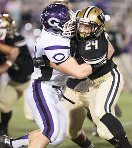 Tim Beard #24 battles with a Chantilly player. Beard was named the Great American Rivalry MVP