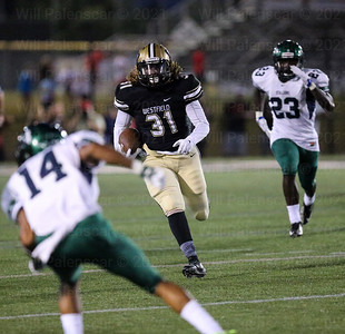 Terrell Monticue #31 led all Westfield in rushing with 37 yards.
