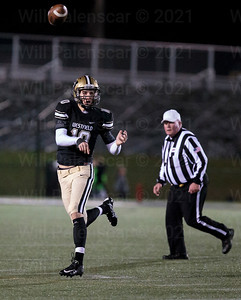 Tyler Scanlon completed 5 of his 14 passes and a touchdown in a regional first round game with Washington-Lee
