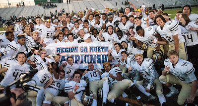 The Westfield Bulldogs sport their 6A North Championship banner