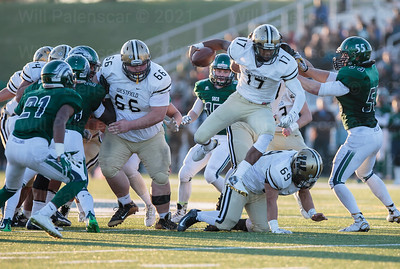 Rehman Johnson Westfield QB #17 uses his athleticism and his teams blocking to run down the field.