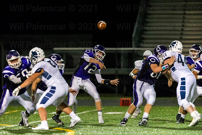 Chantilly QB Justin Holl #12 passes thge ball down the field against Stone Bridge