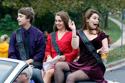 Members of the Sophomore Court in the 2016 Homecoming Parade