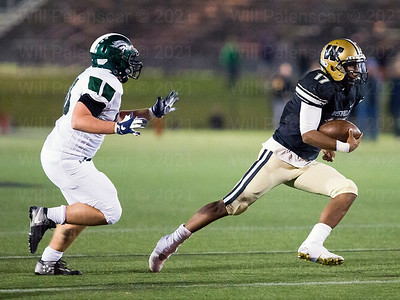 Westfield QB Rehman Johnson #17 carries  the ball  against the South County defense