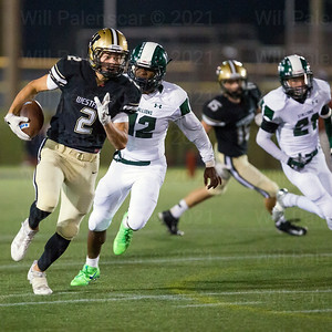 Westfield's Sean Eckert #2 takes this Rehman Johnson pass 74 yards for a TD