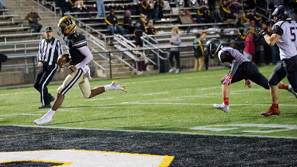 Rehman Johnson runs in for one of his two rushing TD's