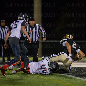 Sean Eckert crosses the goal line for his second TD of the game