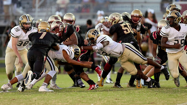 Westfield's defense shutout  the Stonewall Jacvkson offense in their 21-0 win on 9-15