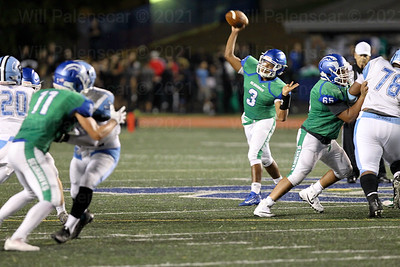 Devin Miles completed 10 of 22 passes for 135 yards and a touchdown and a interception.