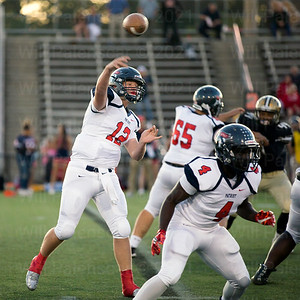 Patriot QB Chris Sonnenberg#12 passes the ball in the 1st half of his teams 46-33 loss to Westfield