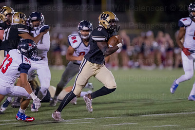 Westfield's Eugene Asante #8 bursts for his first of two rushing touchdowns, this one from 59 yards.