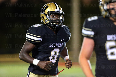 Eugene Asante #8  finished with 195 yards and 2 TD's in game with Patriot.
