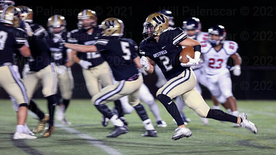 Taylor Morin takes this kickoff return  93 yards for a touchdown in the 4th quarter for his Westfield team.