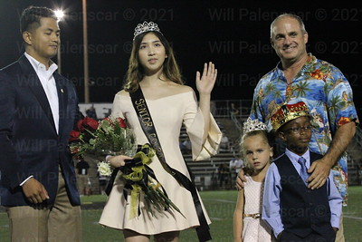 Westfield HS 2017 Homecoming Queen along with Harry Van Trees who will retire.