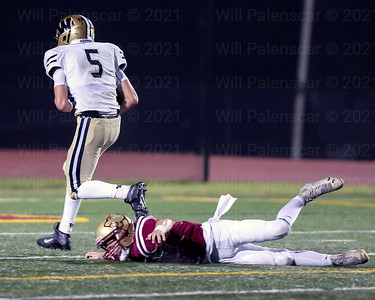 Gavin Kiley #5 leaves a Oakton defender behind on this 45 yard touchdown pass.