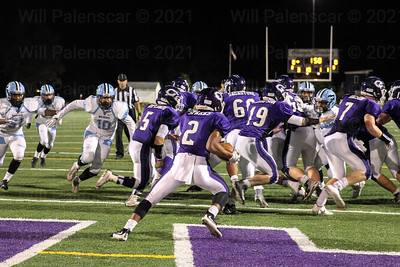 Chantilly RB Dylan Sparks #2 runs the ball out of Chantilly's endzone.