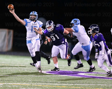 Centreville QB Presley Egbers #15 completed 8 of 11 attempts for 100 yards.