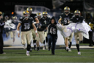 The Westfield Bulldogs enter the field for their 1st round playoff game with Battlefield HS