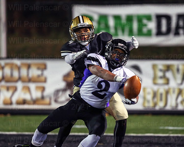 Westfields Eli Soto #4 defends a pass intended for Jonah Seagears #2