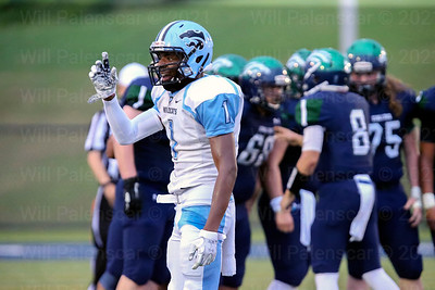 Deondre Edmonds #1 looks to the Centreville sidelines for instructions from the Centreville coaching staff