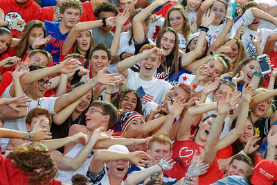 Westfield student cheer on their Bulldogs