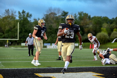 Isaiah Daniel #23 runs in for the first of his two touchdowns in game with Stonewall Jackson
