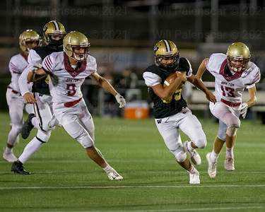 Donovan Mansapit #35 rushes in for one of his two rushing touchdowns. Mansapit led the Bulldogs with a 111 yards.