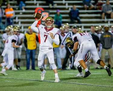 Chris Neary #7 looks for an Oakton reciver downfield