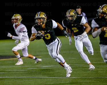 Saadiq Hinton #3 intercepted  the Oakton QB for a pick 6 and Westfield's 3rd TD of the quarter
