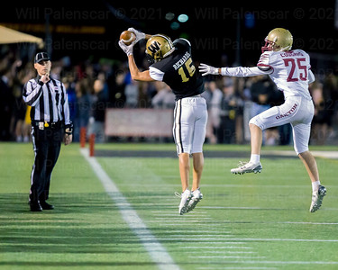 Alex Richards #15 pulls in one of his two receptions.