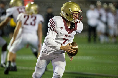 Oakton QB Chris Neary #7 runs with the ball in his teams loss to Westfield on Friday night