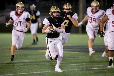 Michael Richie #82 scores on one of his two touchdown runs. Richie also ran for 111 yards.
