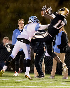 Bizzet Woodley #8 brings in one of his 8 receptions for Westfield