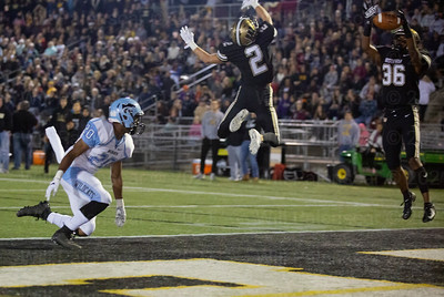Tahj Summey #36 intercepts the pass of Centreville QB Pressley Egbers